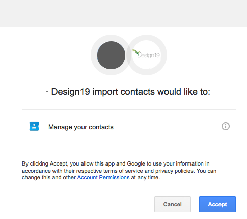 Google API request permission