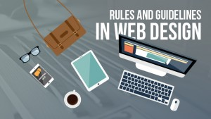 rules and guidelines in web design