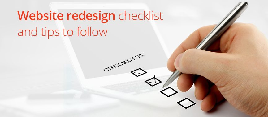 Website redesign checklist to follow