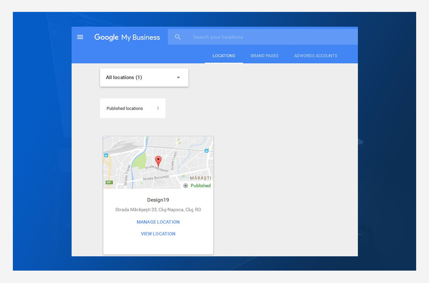 Manage location into Google My Business account