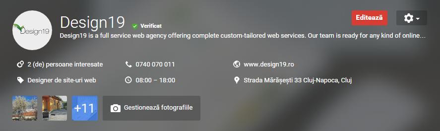 manage photos dashboard Google+