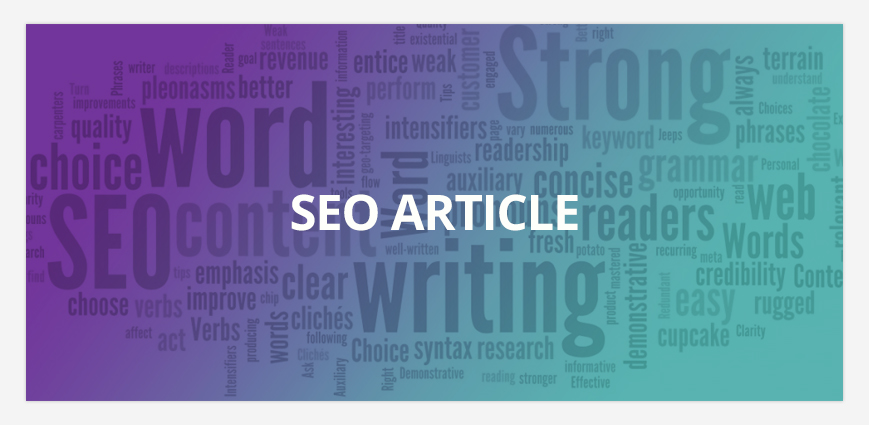 Writing an article using Search Engine Optimization